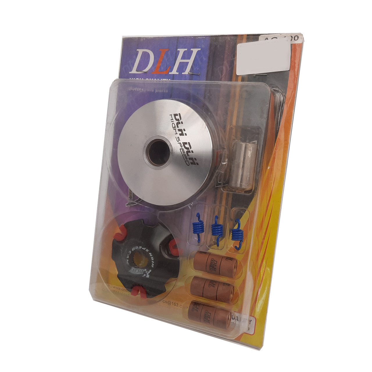 Вариатор передний Suzuki Address 100 (тюнинг) (ролики латунь 9шт, палец, пружины сцепления) DLH