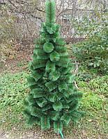 Новогодняя искусственная сосна елка зеленая заснеженная (ПВХ)