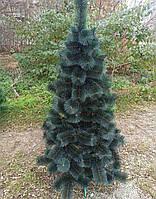 Новогодняя искусственная сосна елка темно-зеленая заснеженная (ПВХ)