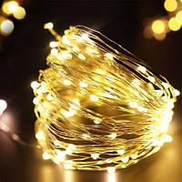 Гирлянда медная проводка 100 LED RD-7109 Желтый