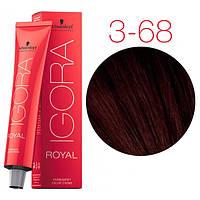 Перманентная крем-краска IGORA ROYAL Chocolates, Schwarzkopf Professional 60 мл 3-68 Темно-коричневый шоколадный красный