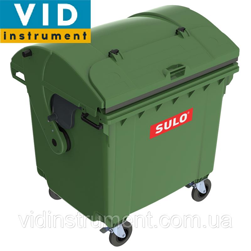 Контейнер мусорный ТБО 1100л с куполообразной крышкой (2 крышки)