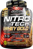 Сывороточный Протеи Изолят Muscletech, Nitro Tech 100% Whey Gold, клубника, 5.53 фунтов (2.51 кг)