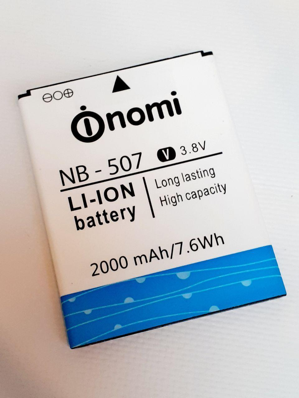 Аккумулятор (Батарея) для Nomi NB-507 i507 (2000 mAh) оригинал б.у.