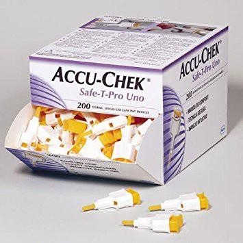 Стерильное одноразовое устройство Accu-Chek Safe-T-Pro Uno, 1 шт.