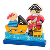 Магнитная деревянная игрушка Viga Toys Пират (50077), фото 1