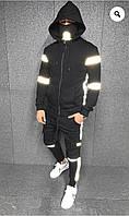 Спортивный мужской костюм с вставкой свето-отражающая плащевка большого размера, фото 1