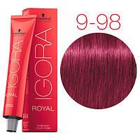 Перманентная крем-краска IGORA ROYAL Reds, Schwarzkopf Professional 60 мл 9-98 Экстра светлый блондин фиолетовый