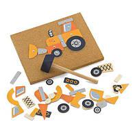 Набор для творчества Viga Toys Деревянная аппликация Строительная техника (50336), фото 1