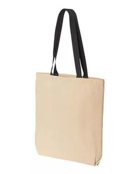 Еко сумка для сублімації з чорною ручкою, розмір 35х41х8 див. (з дном.)