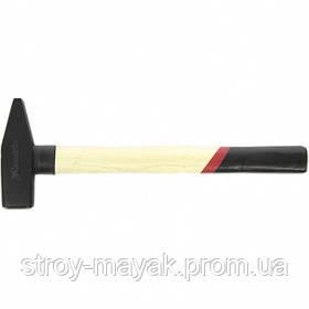 Молоток слесарный надежный 1000 г, квадратный боек, деревянная ручка, MTX