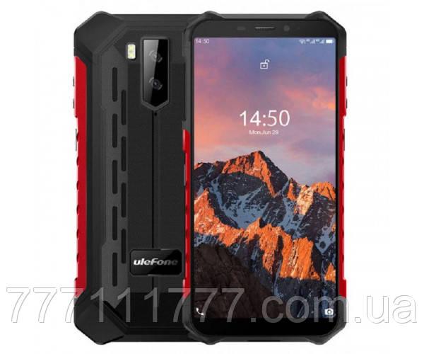 Смартфон водонепроницаемый, противоударный с двойной камерой и NFC UleFone Armor X5 Pro red 4/64гб