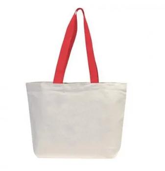 Эко сумка для сублимации 42х12х35 см. трапеция  с красной ручкой