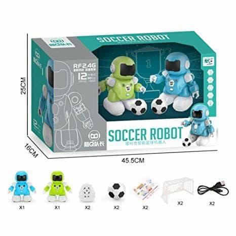 SOCCER ROBOT CAPTAIN Q Роботы футболисты 2 шт. игрушка на пульте управления соккер робот капитан