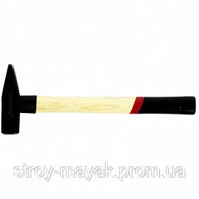 Молоток слесарный надежный 500 г, квадратный боек, деревянная ручка, MTX