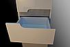 Пенал в ванную металлик с корзиной Симпл 40К-11 Пик, фото 2