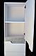 Пенал в ванную металлик с корзиной Симпл 40К-11 Пик, фото 4