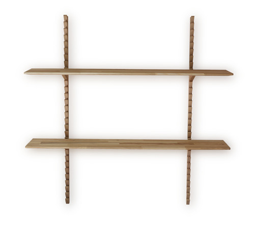 Стильная настенная деревянная полка