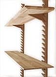 Стильная настенная деревянная полка, фото 2