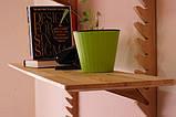 Стильная настенная деревянная полка, фото 3