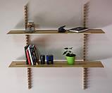 Стильная настенная деревянная полка, фото 4