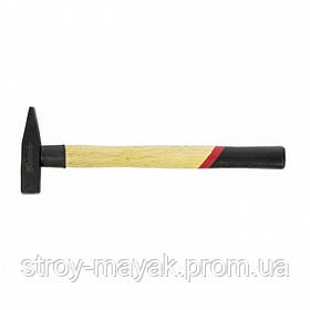 Молоток слесарный надежный 200 г, квадратный боек, деревянная ручка, MTX