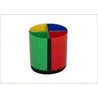 Подставка для ручек на 4 отделения (пластик) Разноцветная 24шт/уп