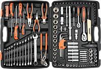 Большой набор инструмента Sthor для автомобиля с ключами 122 ед.