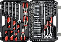 Большой набор инструмента Yato для автомобиля с ключами 129 ед.