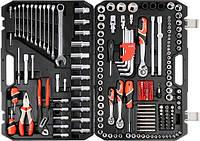 Большой набор инструментов Yato для авто в чемодане 225 ед.