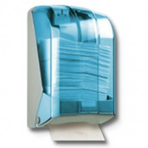 Диспенсер держатель листовой туалетной бумаги в пачках из белого или прозрачного пластика - фото 3