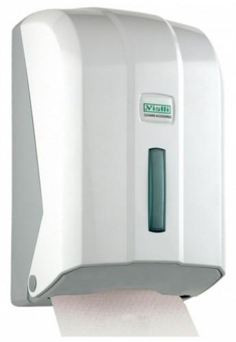 Диспенсер держатель листовой туалетной бумаги в пачках из белого или прозрачного пластика - фото 2