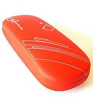 Футляр отличного качества для диоптрийных очков, красный с рисунком, деловой, хлопушка, женский