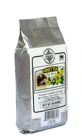 Черный чай Мед, HONEY BLACK TEA, Млесна (Mlesna) 100г.