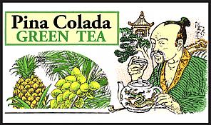 Зеленый чай Пина-Колада, PINA COLADA GREEN TEA, Млесна (Mlesna) 500г., фото 2
