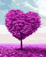 Картина малювання за номерами Mariposa Дерево любви MR-Q2109 40х50 см Пейзаж, природа набор для росписи краски, кисти, холст