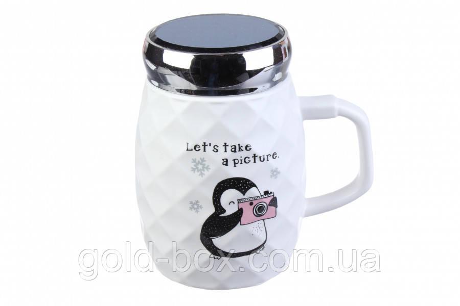 Чашка пінгвін let's take a picture