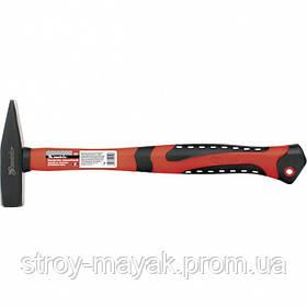Молоток слесарный качественный 300 г, фиберглассовая прорезиненная ручка, MTX
