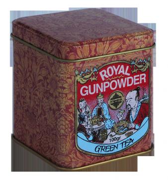 Зеленый чай Королевский Пушечный Порох, ROYAL GUNPOWDER, Млесна (Mlesna) 100г., фото 2
