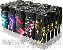 Зажигалки TURBO пьезовые SMOKE с фонариком