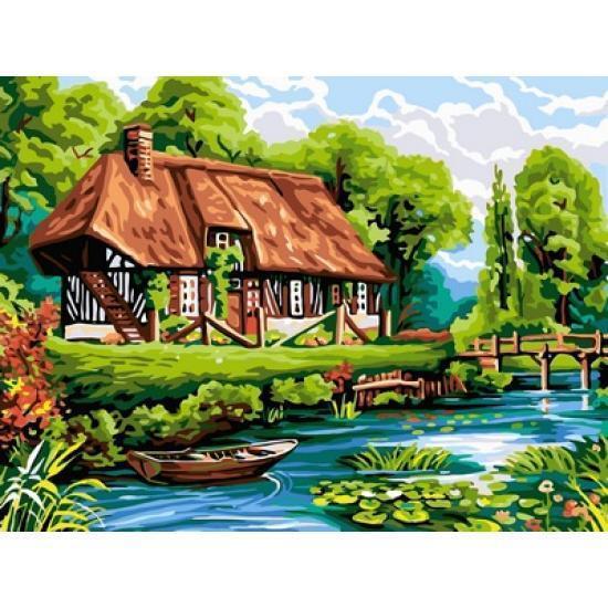Картина рисование по номерам Babylon Тихое место 30х40см VK098 набор для росписи, краски, кисти, холст