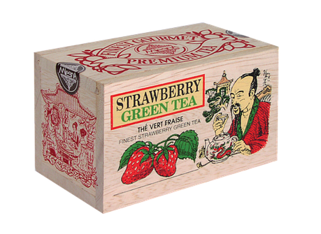 Зеленый чай Клубника, STRAWBERRY GREEN TEA, Млесна (Mlesna) 100г., фото 2