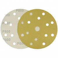 Круг шлифовальный желтый на липучке Velcro Polystar Abrasive 150 мм, P800