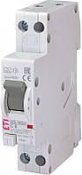 Диффер. автоматический выкл. KZS 1M SUP B  6/0, 01 тип A (6kA) (верхн.подкл.), ETI, 2175811