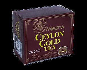 Черный чай Цейлон Голд, CEYLON GOLD, Млесна (Mlesna) 100г (50*2г), фото 2