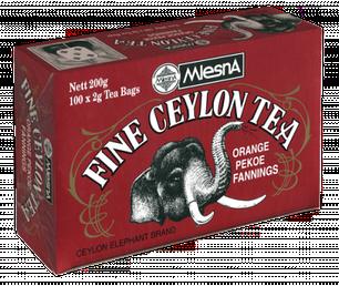 Черный чай Прекрасный Цейлон, FINE CEYLON TEA, Млесна (Mlesna) 200г (100*2г), фото 2