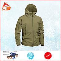 Тактическая городская военная туристическая Куртка Soft Shell софтшел. Весенняя демисезонная непромокаемая