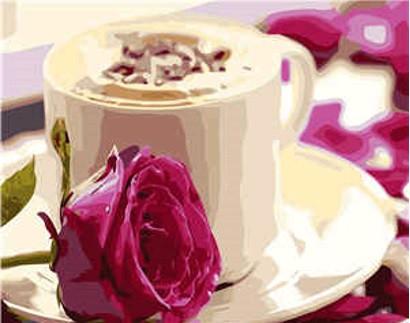 """Набір для розпису по номерах VA-0228 """"Ранкова кава"""", розміром 40х50 см"""