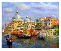 """Картина по номерам """"Венеция лазурная"""" 40*50см,крас.-акрил,кисть-3шт.в коробке"""