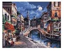 """Картина по номерам """"Венеция ночью"""" 40*50см,крас.-акрил,кисть-3шт.в коробке"""